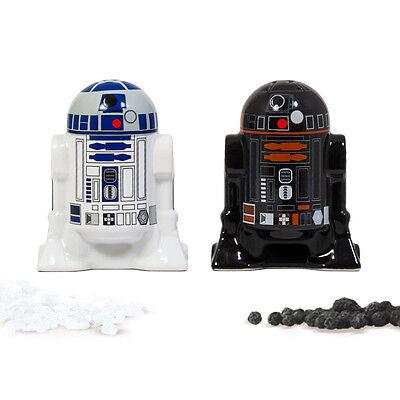 Bluw Salz- und Pfefferstreuer-Set R2-D2 Keramik schwarz, weiß NEU + OVP