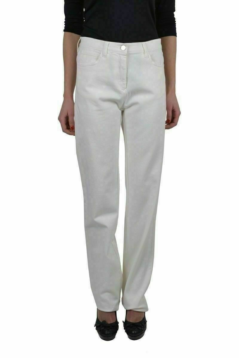 Maison Martin Margiela MM6 Women's White Jeans US 6 IT 42