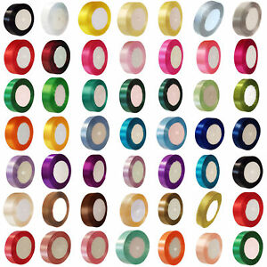 23-METRES-DOUBLE-SIDED-SATIN-RIBBON-6mm-10mm-15mm-25mm-38mm-White-Colours