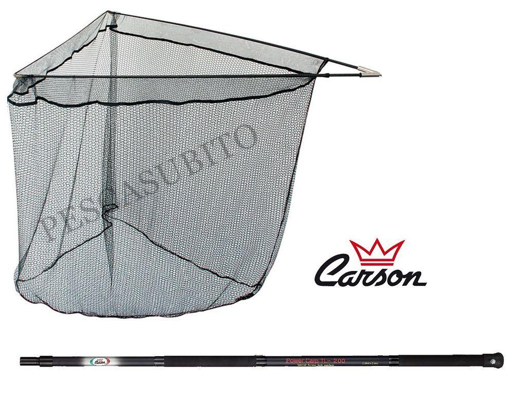 Guadino completo carpfishing manico telescopico carbonio pesca carpa strorione