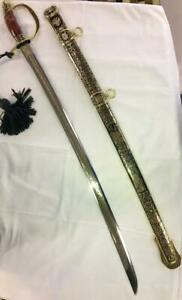 RUSSIAN-ELITE-SABER-SWORD-HANDMADE-DECORATED-ENGRAVED-GOLD-COATED-COLLECTIBLE