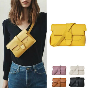 Convertible-Real-Leather-Small-Belt-Bag-Sling-Pack-Crossbody-Clutch-Fanny-Pack
