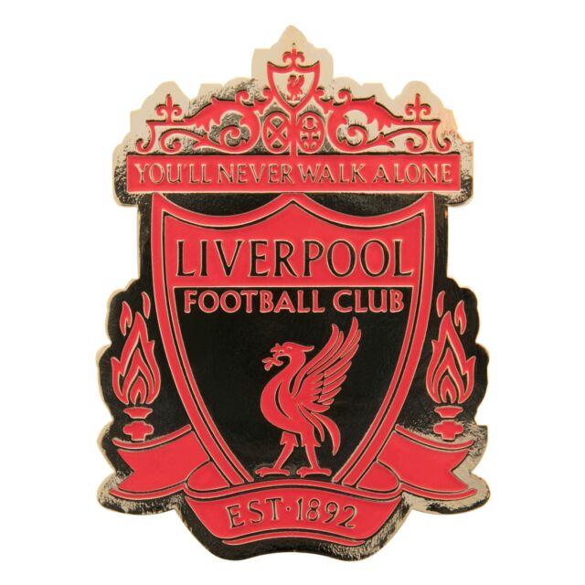 Liverpool FC LFC Red & Gold Crest Magnet Official for sale ...