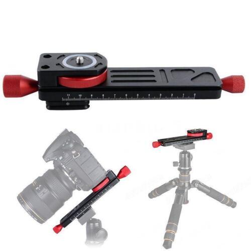 2-Way Macro Close-Up Focus Slider Rail Stabilizer Tripod Head Plate DSLR Camera