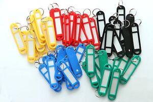 6-2500 Schlüsselanhänger Schlüsselschilder zum Beschriften farbig GROSS 68x17mm
