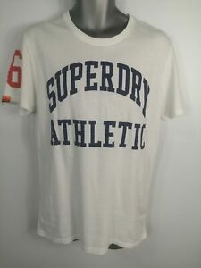 Homme-Logo-Superdry-a-manches-courtes-chemise-en-coton-Top-T-shirt-Taille-Extra-Large-XL