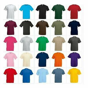 3-Pack-Men-039-s-Fruit-of-the-Loom-Plain-100-Cotton-Blank-Mix-Tshirt-T-Shirt-New