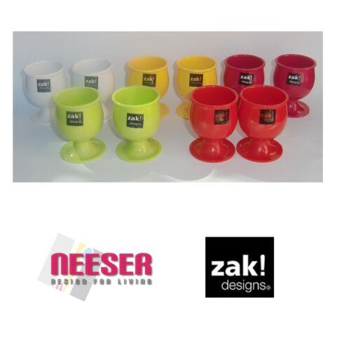 DESIGNS coquetier 2-er set dans moderne couleurs de mélamine-plastique Zak