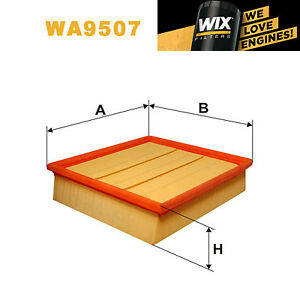 1x-WIX-Filtro-de-aire-Wa9507-equivale-a-Fram-ca10211