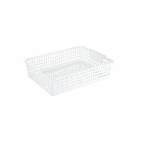 Plastic Storage Basket Organizer Home Bathroom Box Snack Fruits Container Rack