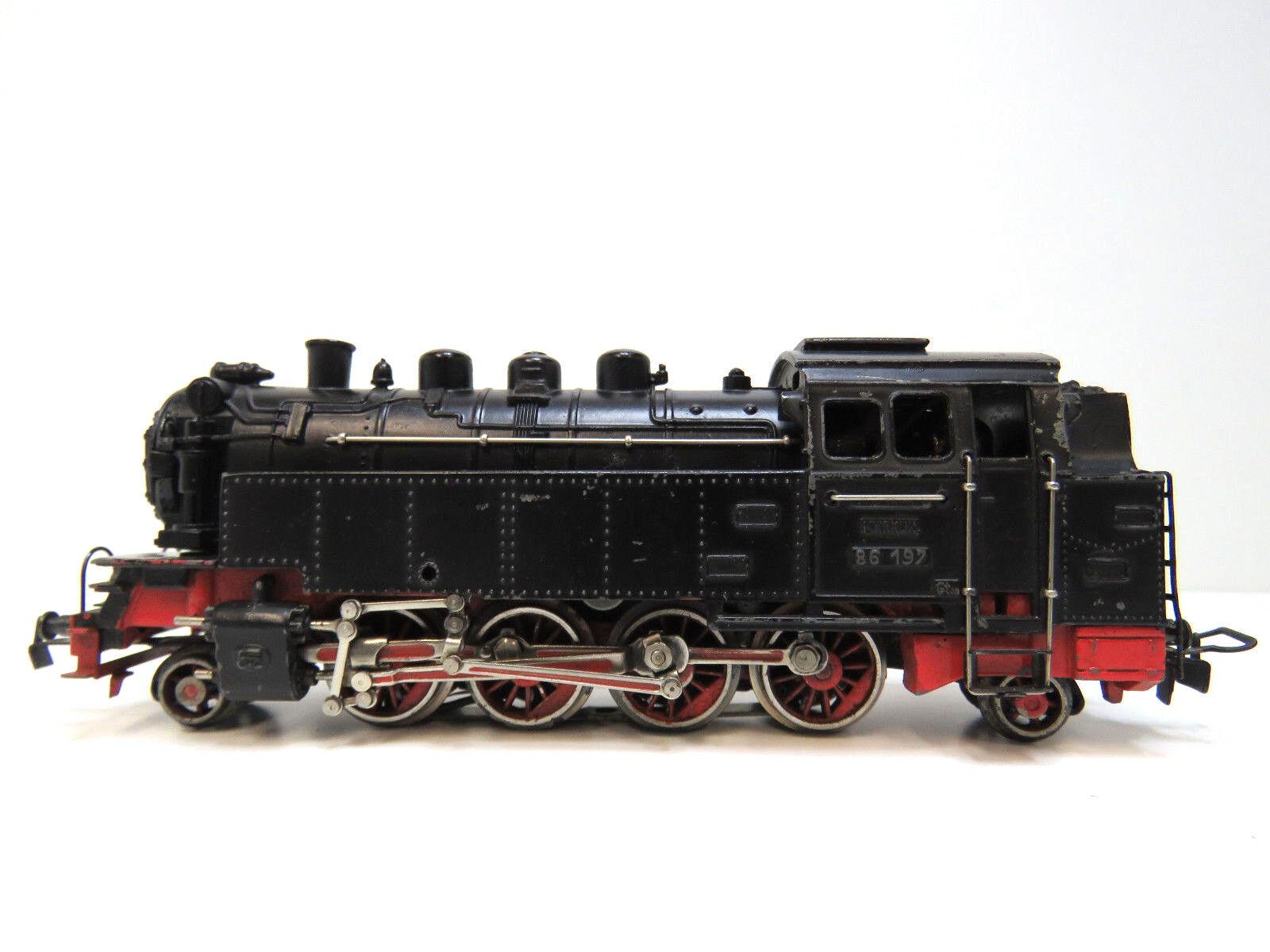 Locomotiva BR 86 197 delle DB, Epoca III,  , TT 800, CALDAIA TP 800, CARTONCINO 3096,kv