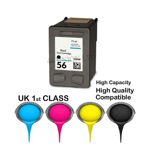 2 REMANUFACTURED hight quality HP 56 ink cartridge for HP printer