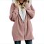 Women Teddy Bear Long Knee Coat Casual Retro Faux Fur Winter Warm Jacket Outwear