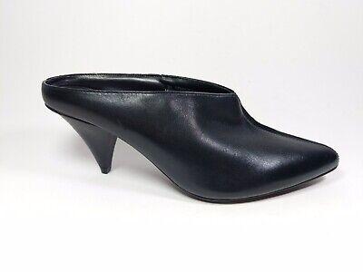 M \u0026 S Black Suede Leather Mid Heel