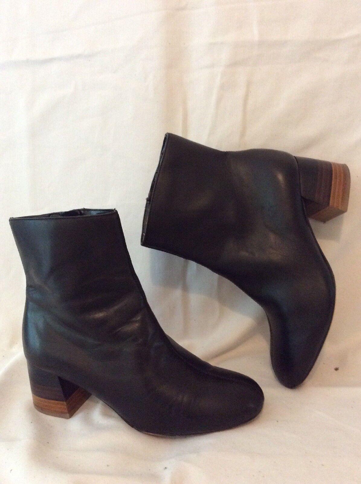 5af659bc503 Autograph Black Ankle Boots Size 4.5 Leather ntbepj1819-Women s Boots