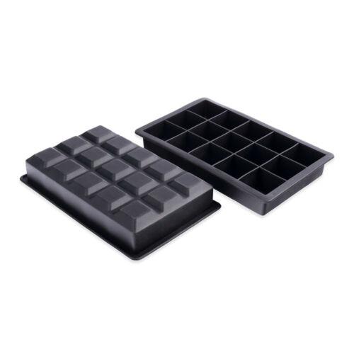 Schramm® 2 Stück Eiswürfelformen 3,5cm Silikon BPA frei Eiswürfelzubereiter