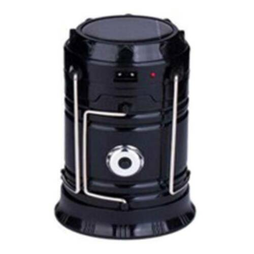 USB Solar 6 LED Portable Light Rechargeable Lantern Outdoor Camping Hiking Lamp@