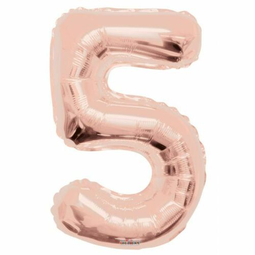"""36/"""" Rose Gold ~ # 5 ~ Foil Balloon by Kaleidoscope Wedding Girls Party Annivers"""