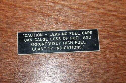 Aircraft Fuel Cap Caution Placard