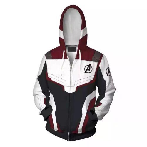 UK Avengers 4 Printed 3D Hoodies Endgame Men Sweatshirt Zipper Jacket Coats Cool