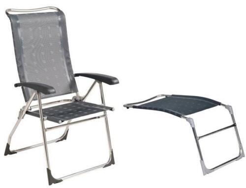 Dukdalf Aspen Camping Grey Caravan Chair /& Footrest Package