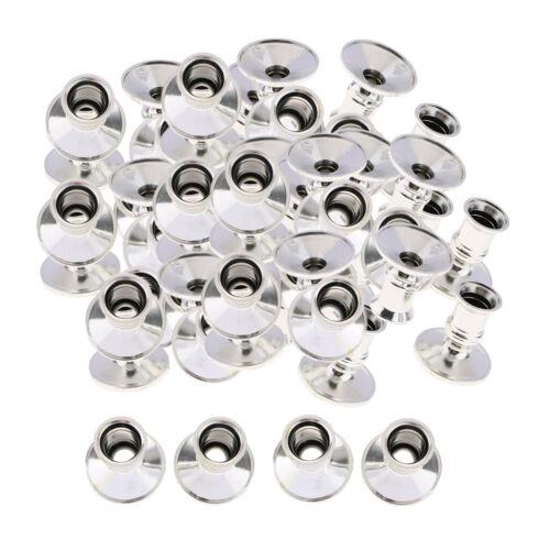 30 Sets Kunststoff Versilbert Kerzenständer Säule Kerzenständer Für