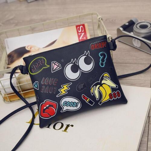 Graffiti Printed Women Handbag Mini Crossbody Shoulder Purses Clutches Flap Bag