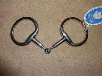 Coronet Adjustable Bit Flat Ring Eggbutt Jointed Snaffle 4 1/2 - 5 1/2