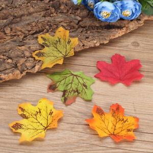 100Pcs-Artificial-Maple-Fall-Leaves-Autumn-Leaf-Wedding-Table-Favor-CA