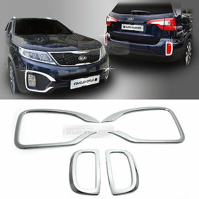 New Chrome Fog Lamp Cover Molding 4pcs K023 for Kia Sorento 2013-2014