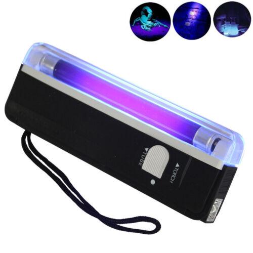 Handheld 4W UV Bulb LED Light Torch Lamp Flashlight Portable Blacklight Black