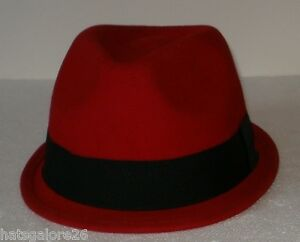 Tiny brim Trilby hat RED SKINHEAD MADNESS THE SPECIALS THE SELECTOR ... 072694ef153