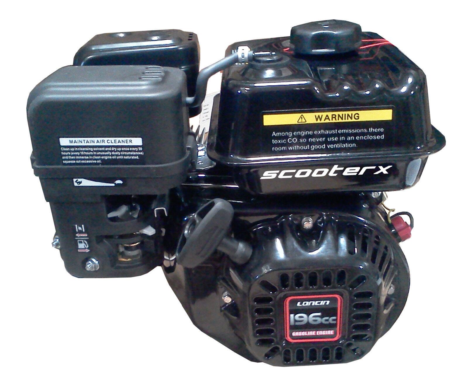 Motor de gas gasolina motor de gasolina 196cc 6.5hp 3 4  Hoja shrdder Madera Desbrozadora Nuevo