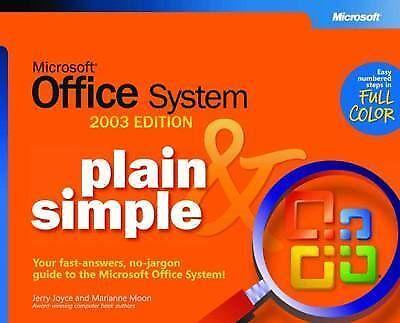 """AS NEW"" Microsoft® Office System Plain & Simple -- 2003 Edition (BPG-Plain & Si"