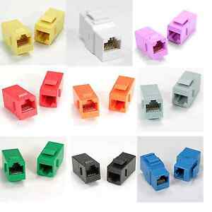 cat6 rj45 ethernet keystone jack inline adapter port. Black Bedroom Furniture Sets. Home Design Ideas
