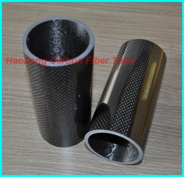 2pcs 40mm ODX 36mm IDX 500mm 100% Roll Wrapped Carbon Fiber Tube 3K /Tubin 40*36