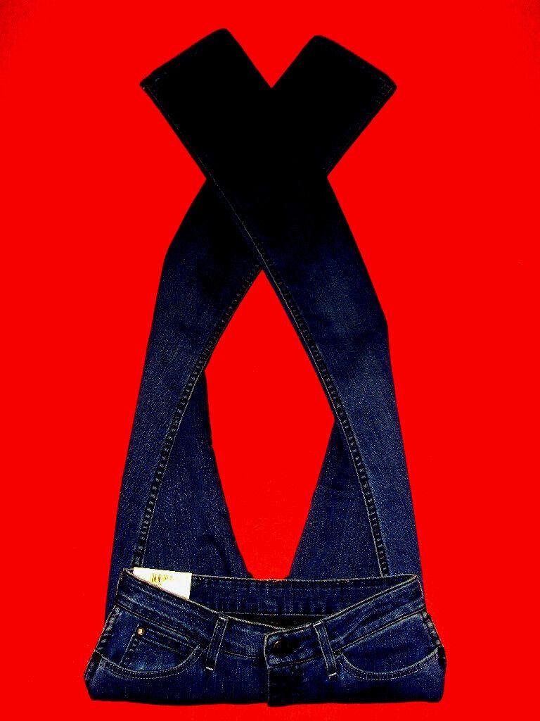 WRANGLER Jeans stretchjeans HIGH WAIST blu DENIM w28 l34 NUOVO CON ETICHETTA