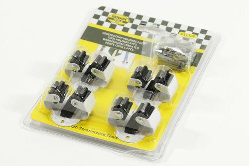 4x Werkzeughalter Gerätehalter NEU Besen Wandhalter Stielhalter weiß