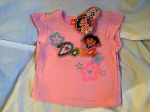 DORA-THE-EXPLORER-Shirt-Girl-039-s-Pink-Size-3T-Nickelodeon-NWT