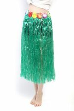 Karneval Hawaii Rock Bastrock Südsee Pazifik Hula Skirt Grün Lang 75 - 80 cm