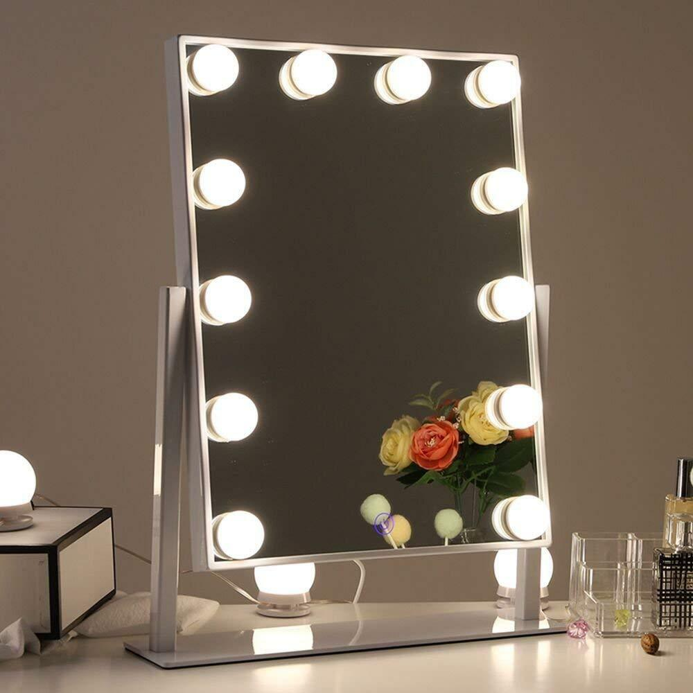 Specchi Con Luci Per Trucco Ikea.Chende Hollywood Makeup Mirror Vanity Mirror With 12 Led Dimmable Bulbs Tabletop