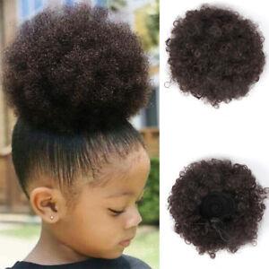 10pcs 4 Chignon Bun Synthetic Puff Drawstring Ponytail Afro Kinky