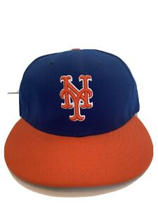 New-Era-59fifty-NY-New-York-Mets-Fitted-Hat-Size-7-See-Pic-EUC-MLB-Baseball