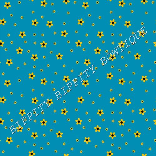 """GORGEOUS  /""""LITTLE BEE/'S/""""  CANVAS PRINTED FABRIC SHEET..HAIR BOWS,"""