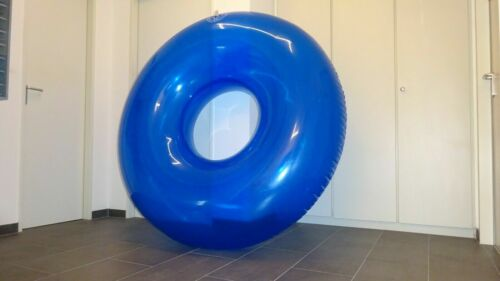 1.5m+ Huge Inflatable Red Swim Ring 5 feet+ shiny Pool Toy big Inflatable