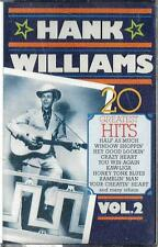 HANK WILLIAMS / 20 Greatest Hits Vol. 2 - Sealed Cassette