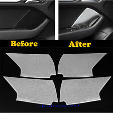 Inner Accessories Door Speaker Cover Frame Decor 4x For Audi A3 8V 2014-2017
