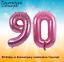 """90th Gigante Fiesta de Cumpleaños 40/"""" Globo De Aluminio Helio decoración de aire edad 90 Rosa"""