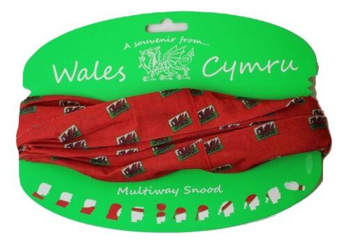 Wales Cymru Dragon Flag Multiway Snood A Souvenir from Wales Unisex