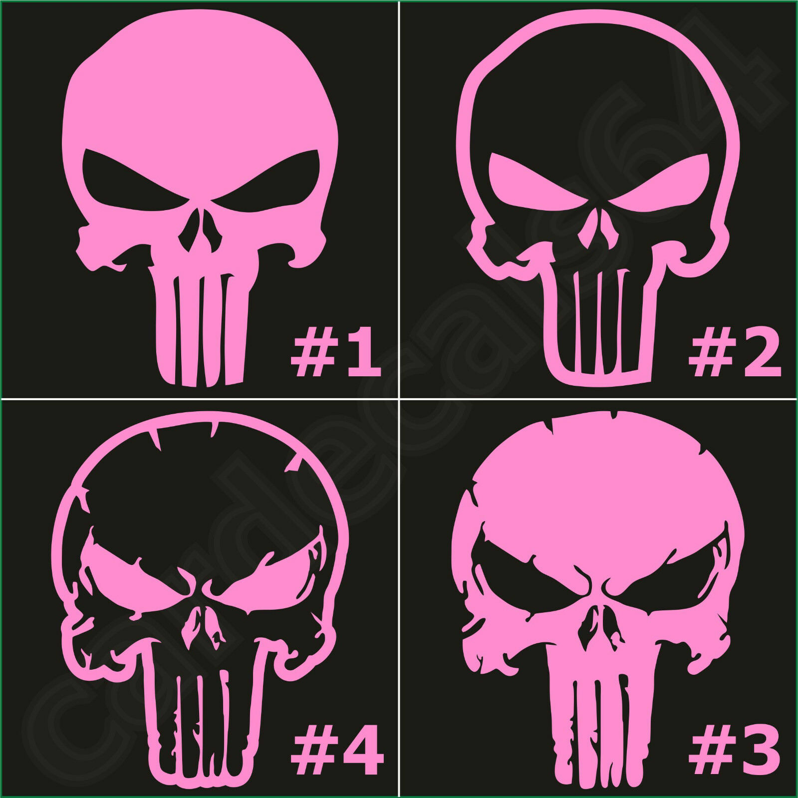 Männer ist Punkschädelform Punisher Schädel Design Metall Schlüsselanhänger NEU